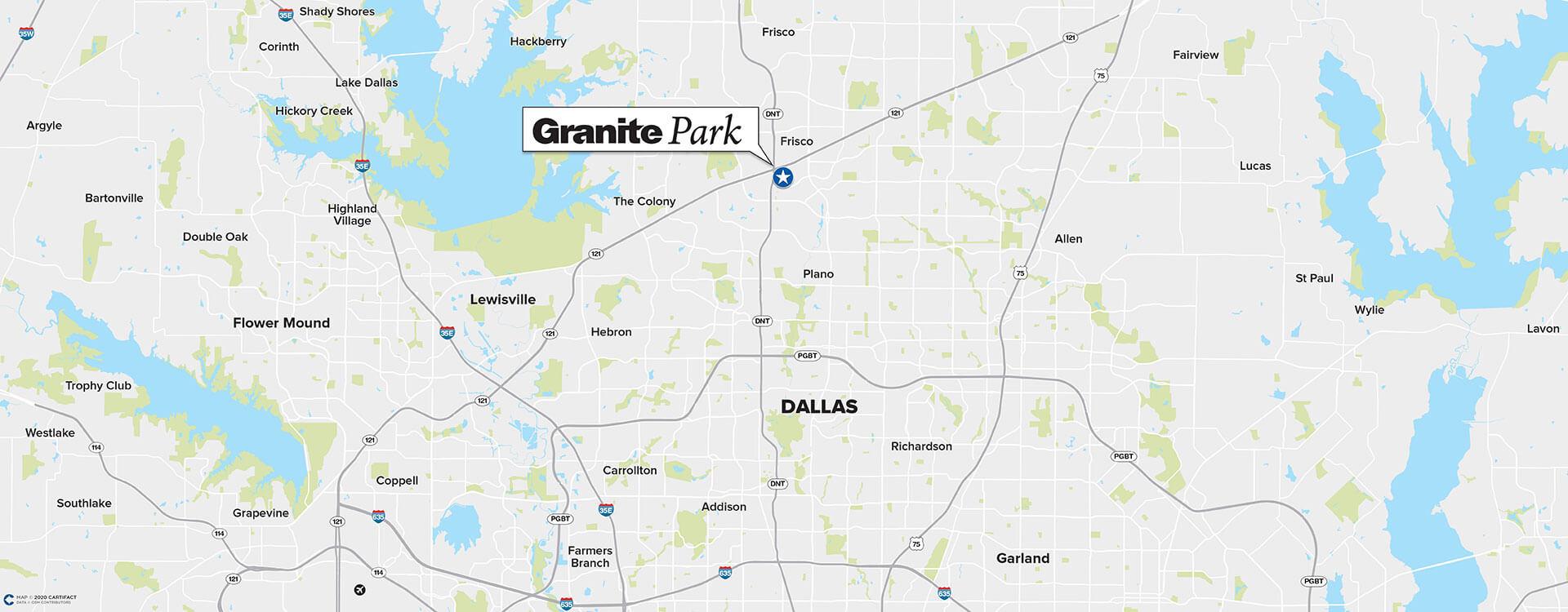 Granite Park Four location map